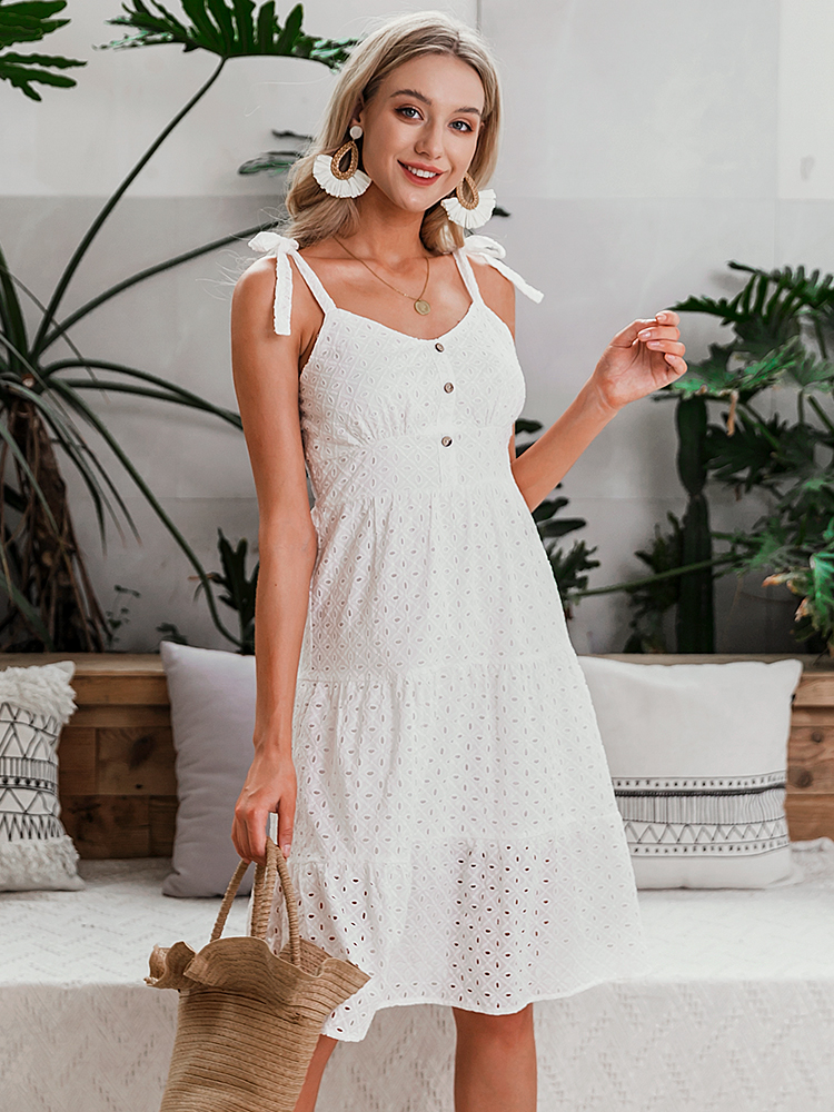 Embroidery Midi Summer Dress