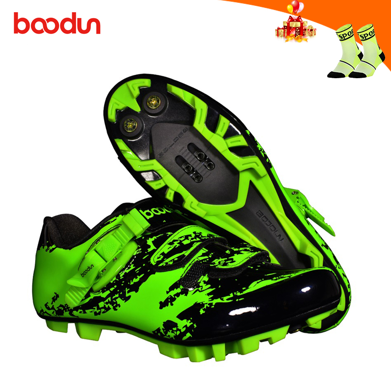 BOODUN mountain bike shoes men green cycling sneakers self-locking breathable sapatilha ciclismo mtb shoes riding bicycle shoe