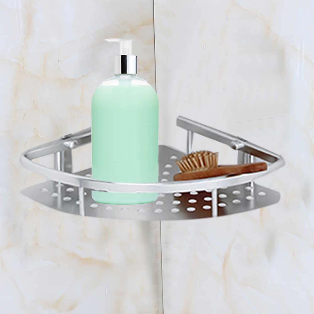 Panier de rangement de salle de bain en aluminium | 3 couches d'espace pour la salle de bain, panier d'angle, douche shampooing savon et cosmétiques, étagères de rangement, salle de bain, organisateur
