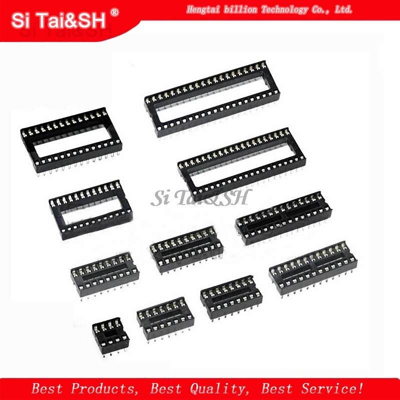 10PCS IC Sockets DIP6 DIP8 DIP14 DIP16 DIP18 DIP20 DIP28 DIP40 Pins Connector DIP Socket 6 8 14 16 18 20 24 28 40 Pin