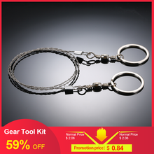 Outdoor Emergency Equipment Survival Gear Multi Tool Kit Stainless Steel Wire Saw Hand Pocket Wire Saws Hiking Camping Equipment(China)
