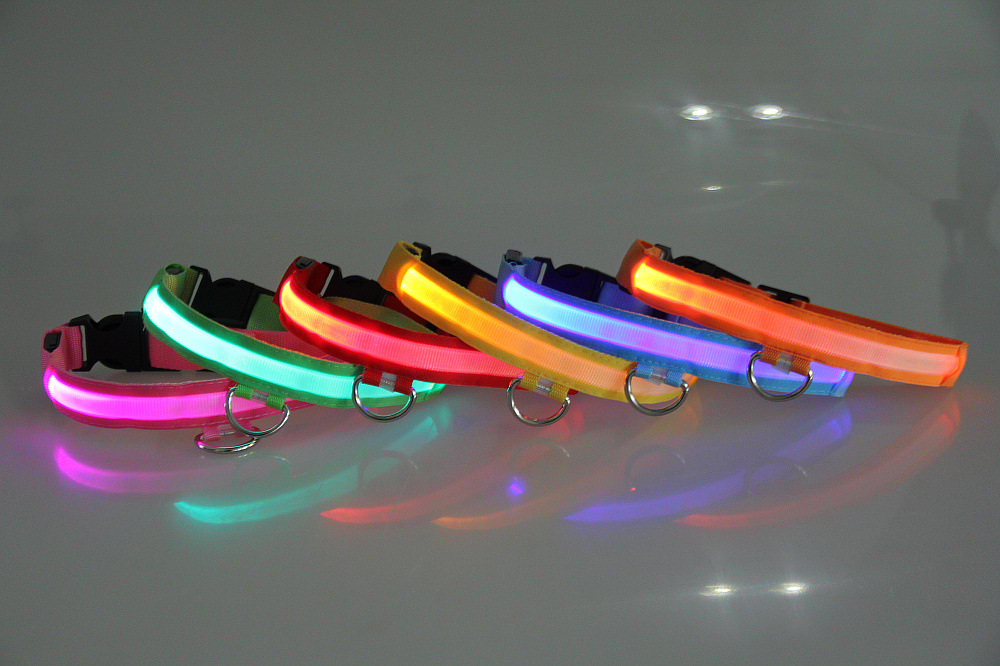 3D Highlight Pet LED Luminous Dog Collar Concavity Improve His Brightness 6 PCs Color 4 PCs Specification