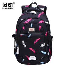 The new 2019 womens backpack high school students student schoolbag waterproof printing travel bag bulk