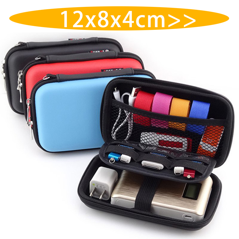 EVA Mini Portable Earphone Bag Coin Purse Headphone USB Cable Case Storage Box Wallet Carrying Pouch Bag Earphone Accessories