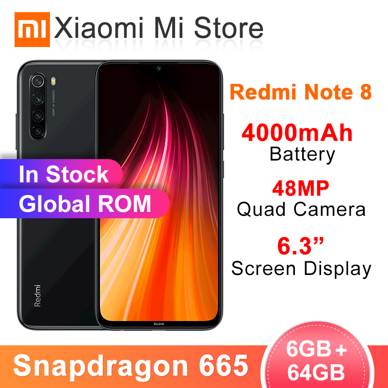 Global ROM Redmi Note 8 6GB 64GB 48MP Quad Cameras Smartphone Snapdragon 665 Octa Core 6.3