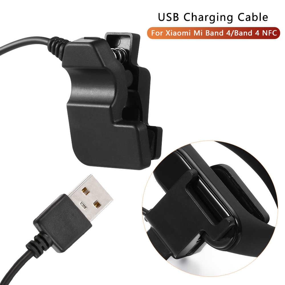 سريع USB شحن كابل ل شياو mi mi الفرقة 4 NFC سوار التفكيك خالية كابل شاحن mi الفرقة 4 محول شاحن M4 ساعة ذكية