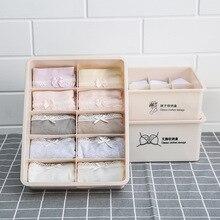 Japanese underwear multi-function storage box plastic bra socks compartment drawer