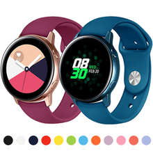 20 22mm Silicone Strap For Samsung Galaxy Watch Active strap gear S2 S3 frontier smart Bracelet watchband galaxy watch 46mm 42mm