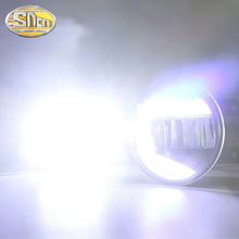цена на For Toyota Corolla 2007~2019 LED Projector Fog Lamp DRL Daytime Running Light Waterproof High brightness