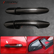 For Ford Mustang 2015-2020 Ecoboost GT350 GT Coupe Carbon Fiber Car Accessories Side Door Handle Cover Trim Exterior Trim