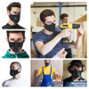 Respirator Dust Mask with Filter Breath Valve Anti Dust Mask Half Face Carbon Mountain Bicycle Motor Cycling Masks Face Cover