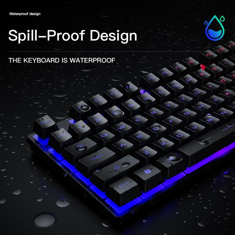 Niye Gaming Mouse And Keyboard Set USB Gamer Keyboards Gaming Mute Keyboard Mouse Combo For Notebook Laptop Desktop PC Game