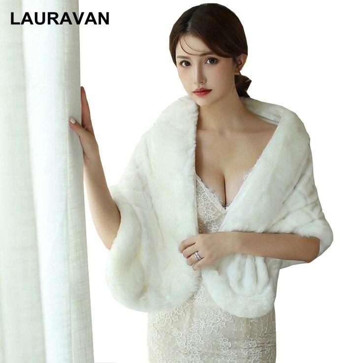 2019 Women Bolero Bridal Shawl Long Faux Fur Wrap Bolero Wedding Cape Bridal Shawl Fur Cape Winter Ivory Bridal Cloak Bolero