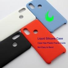 Xiaomi Mi 8 yumuşak sıvı silikon kılıf için Xiaomi Mi Max3 8 6X 10 Lite A2 Mix 3 Redmi 6 Pro Pocophone F1 silikon Case arka