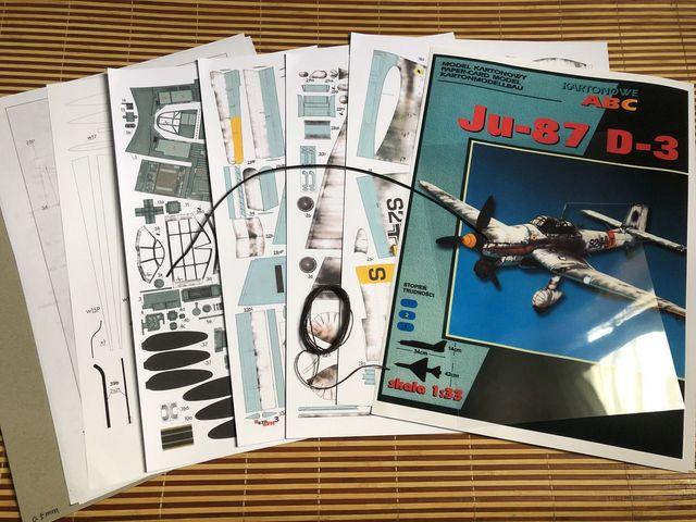 1:33 German Ju-87 D-3 Stuka Dive Bomber DIY 3D Paper Card Model Building Sets Educational Toys Military Model Construction Toys 2