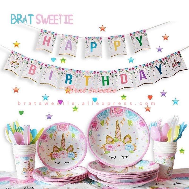 Brilliant Unicorn Birthday Cake Topper Unicorn Paper Plates Cups Birthday Personalised Birthday Cards Paralily Jamesorg