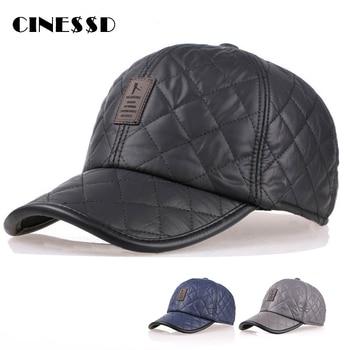 2020 New Autumn Winter Leather Baseball Cap Men Snapback Hat Bone PU Leather Adjustable Trucker Cap Gorras Casquette недорого