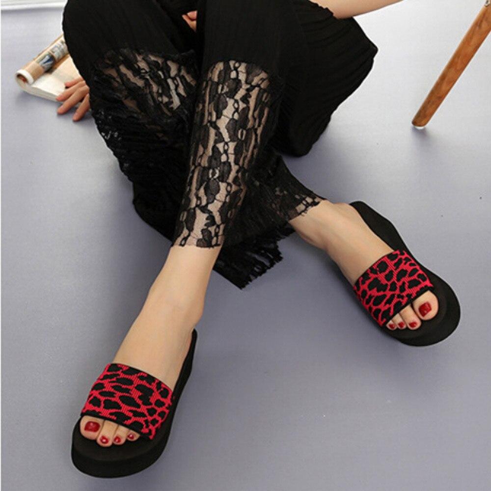 JAYCOSIN Summer Women Shoes Platform Bath Platform Slippers Wedge Beach Slope Flops Slippers Shoes Woman zapatos de mujer slides 2