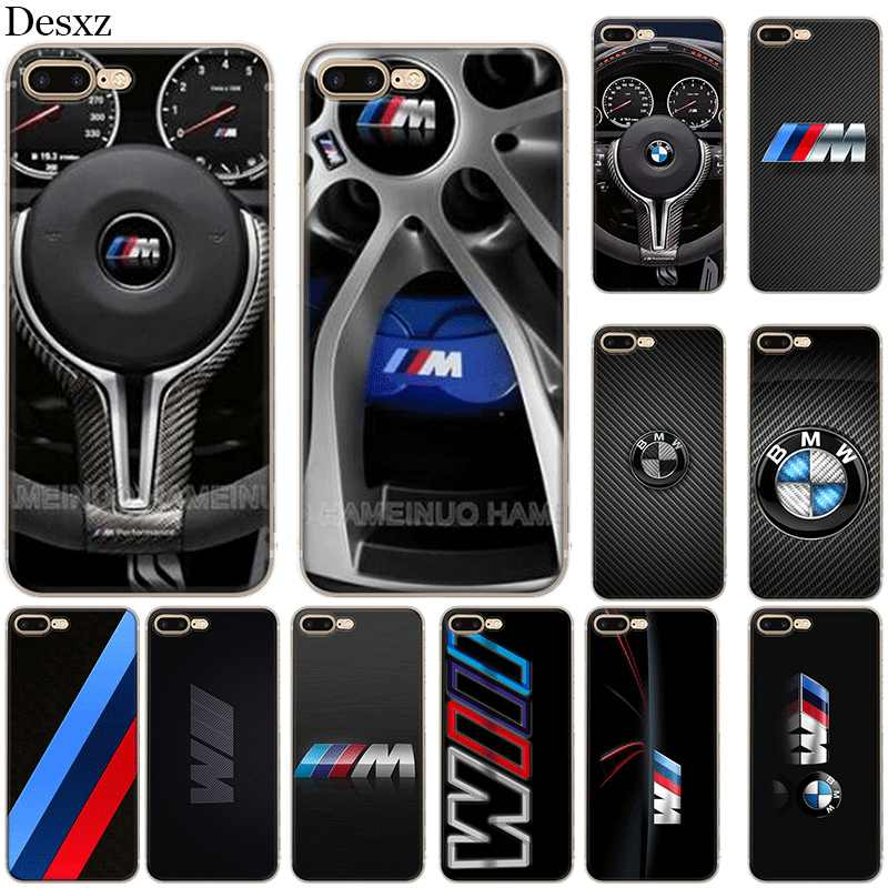 Silikon Case untuk iPhone 5 5 S SE 6 6 S 7 7 Plus X XS XR Max New BMW cover Kasus