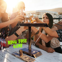 Drinking Game Toy Wooden Ring Toss Game Toss Hook Board games montessori toy games kids toys for children adult Party Home Game
