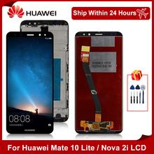 5 9 #8222 dla Huawei Mate 10 Lite LCD RNE-L01 RNE-L02 RNE-L03 RNE-L21 wyświetlacz dotykowy Digitizer dla Nova 2i części zamienne tanie tanio NONE CN (pochodzenie) Pojemnościowy ekran 2160*1080 3 For Huawei Mate 10 lite LCD LCD i ekran dotykowy Digitizer 5 9 inches