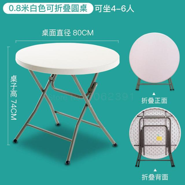 Folding Round Table Household Simple Round Folding Table Large Round Table Outdoor Portable 10 Person Dining Table Aliexpress