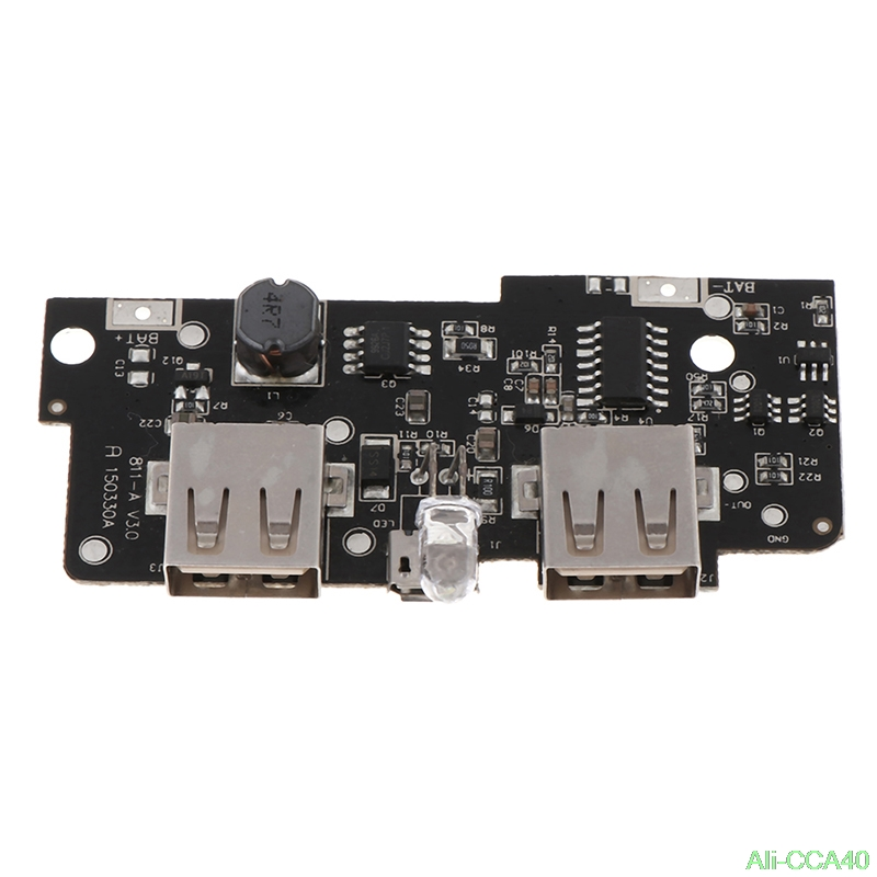 5V 2A Power Bank Charger Module Step Up Boost Power Supply Charging PCB Circuit Board DIY Dual USB Output LED