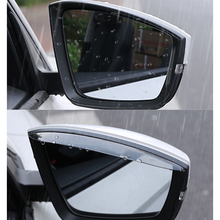 Lsrtw2017 Abs Half Transparent Car Rearview Rain Shade Cover Trims for Skoda Kodiaq Interior Mouldings Accessories