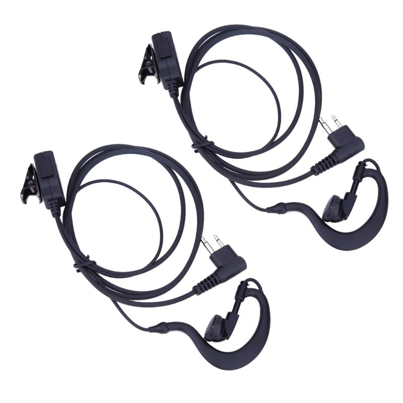 2Pcs 2-Pin Mic PTT Earpiece Headset For Motorola CB Radio CP88 CP040 CP100 For Motorola XTN XV AX Series Radio