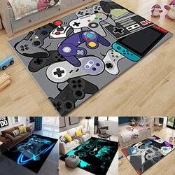 Gamer Controller Area Rugs Non-Slip Floor Mat Doormats Home Runner Rug Carpet for Bedroom Indoor Outdoor Kids Play Mat