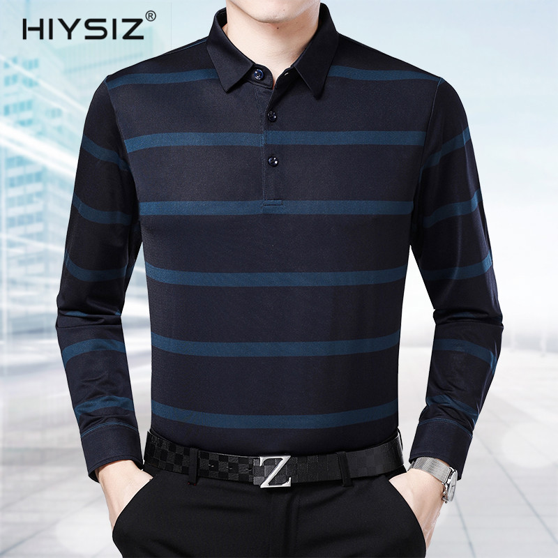 HIYSIZ Brand New Fashion Style 2019 Casual Turn-down Collar Autumn Winter Streetwear Long Sleeves Sweater Pullover For Men SW015