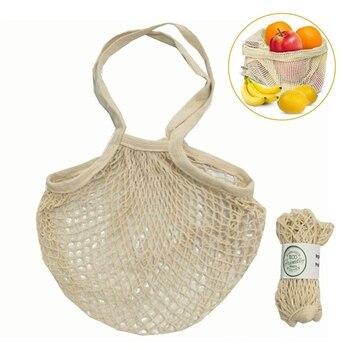 reusable mesh shopping grocery bag