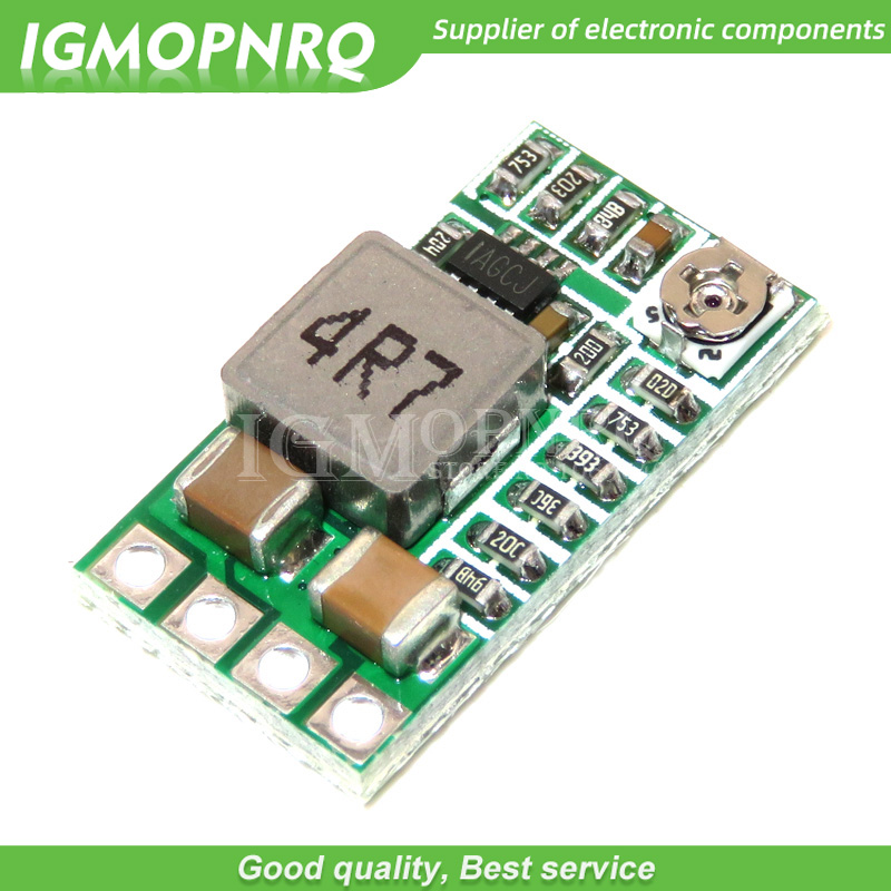10Pcs Mini DC-DC 12-24V To 5V 3A Step Down Power Supply Module Voltage Buck Converter Adjustable 97.5% 1.8V 2.5V 3.3V 5V 9V 12V image