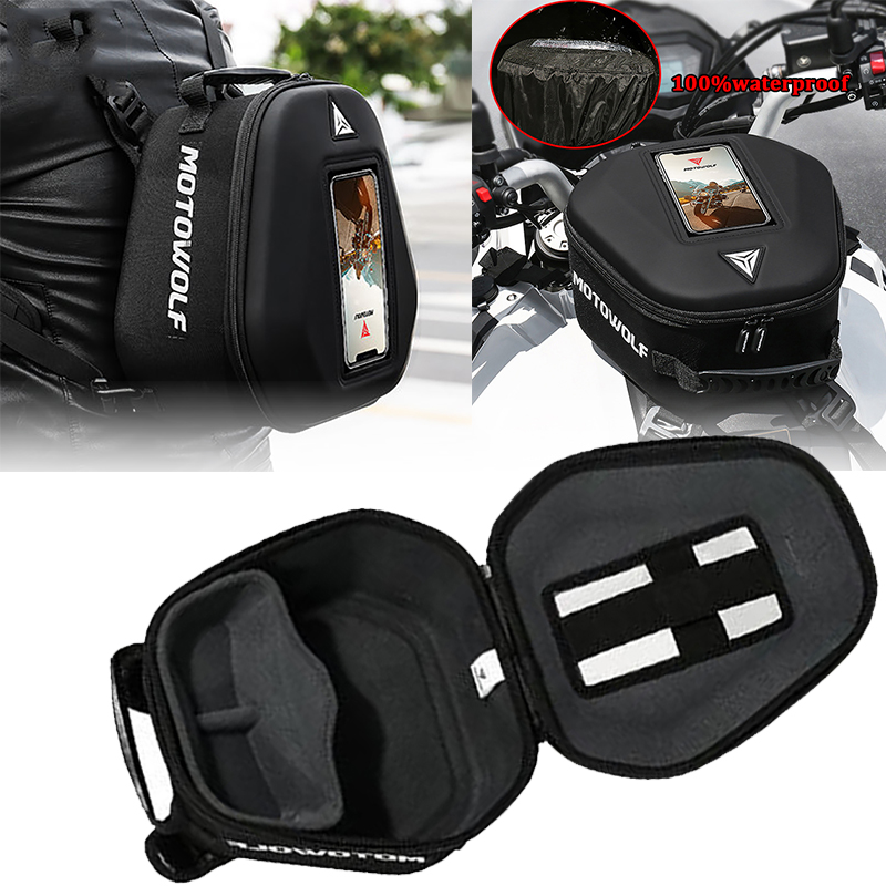 Bolsas de depósito para motocicleta de navegación móvil de bolsa para BMW CBR600RR CBR1000RR VFR800 R1200GS R1250GS NC700 NC750 CB400 CB500X
