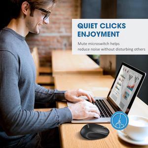 Image 5 - VicTsing souris sans fil 2400DPI, ajustable avec Bluetooth 5.0 ghz, USB 2.4 ghz, pour PC portable et tablette