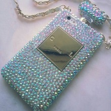 Bling Crystal Diamond Lanyard Chain Back Cover For Samsung S