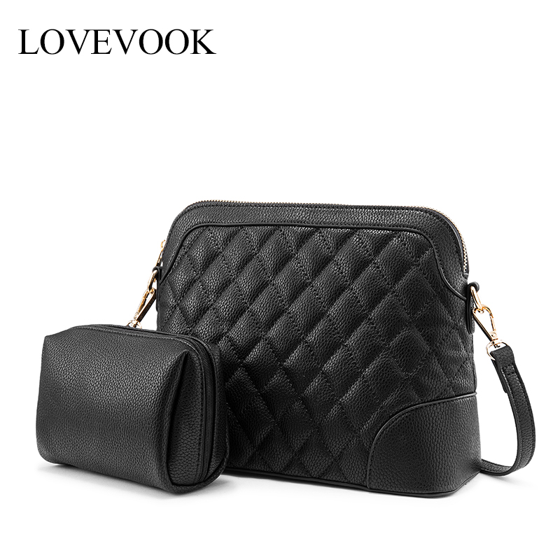 LOVEVOOK Women Bag Set Crossbody Bags For Women 2019 Shoulder Messenger Bags Female Diamond Plaid Small Make Up Bag For Ladies
