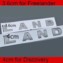 3.6cm 4cm Letters Emblem for Land Rover FREELANDER 2 3 DISCOVERY Car Styling Refitting Hood Trunk Logo Sticker Original Grey
