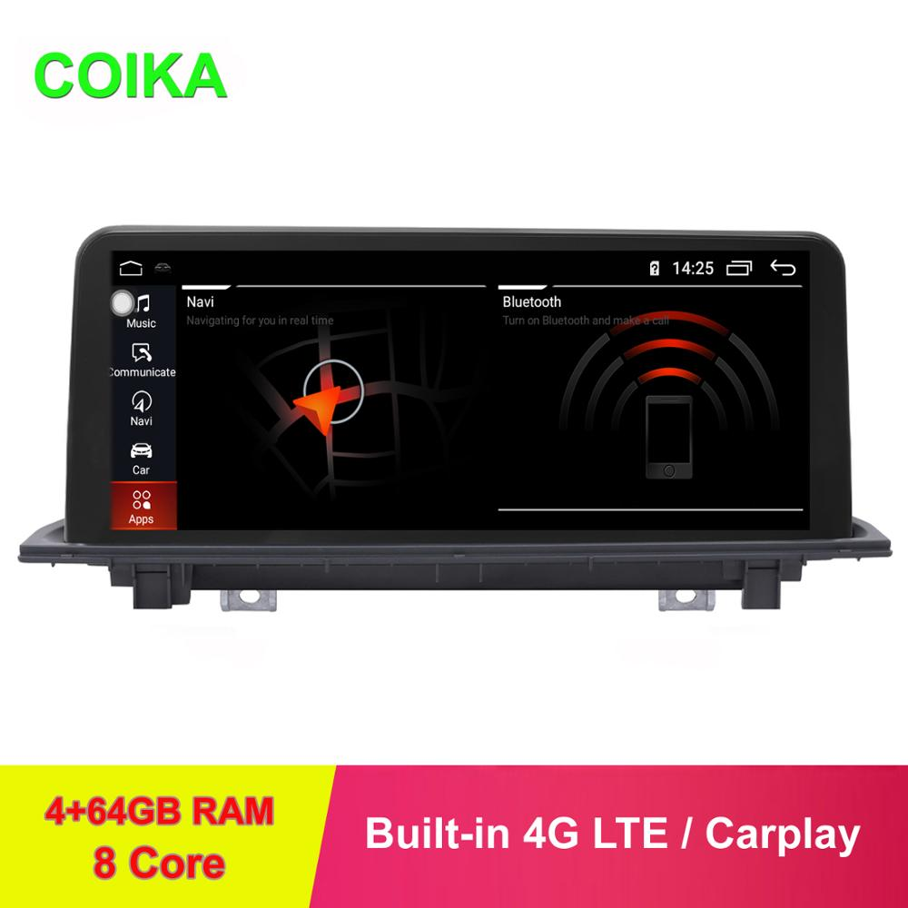 COIKA 4+64GB 8 Core Android 9.0 System Car Display Screen <font><b>For</b></font> X1 F48 <font><b>X2</b></font> 2016-2019 <font><b>GPS</b></font> Navi Receiver WIFI 4G SIM BT IPT Touch PIP image