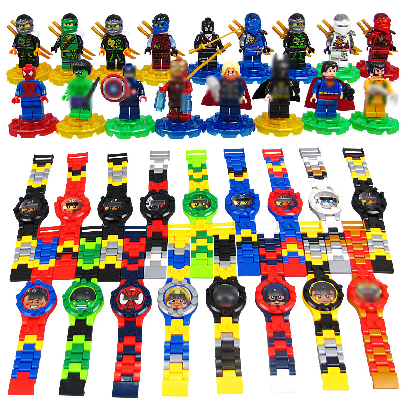 Kids Watches Building Blocks Bricks Toys Children Watch Compatible LegoINLY NinjagoINLY LegoINGS Duplo LegoINGL MinecraftING Toy