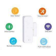 3x Tuya WiFi inteligente Sensor de puerta Tuya hogar inteligente Tuya Sensor de vida inteligente para ALARMA DE SEGURIDAD PARA EL HOGAR soporte Alexa Google Home
