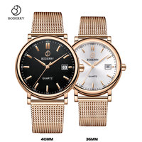 Couple Watches for Lovers Brand Luxury Swiss Quartz Movement Pair Men and Women Stainless Steel Waterproof Fashion Wrist Watch