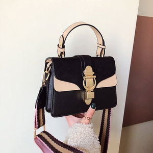 Image 3 - 2019 New Brand Women Leather Handbags Famous Luxury Designer Contrast Color Fashion Shoulder Bags Female Crossbody Purses Bolsas