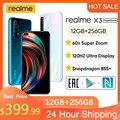 Realme X3 6,6 дюйма '12гб + 256 ГБ NFC SuperZoom 64MP Snapdragon 855 + 120 Гц дисплей 64MP 60X 4200 мАч 30 Вт Дротика Зарядка 4G мобильный телефон