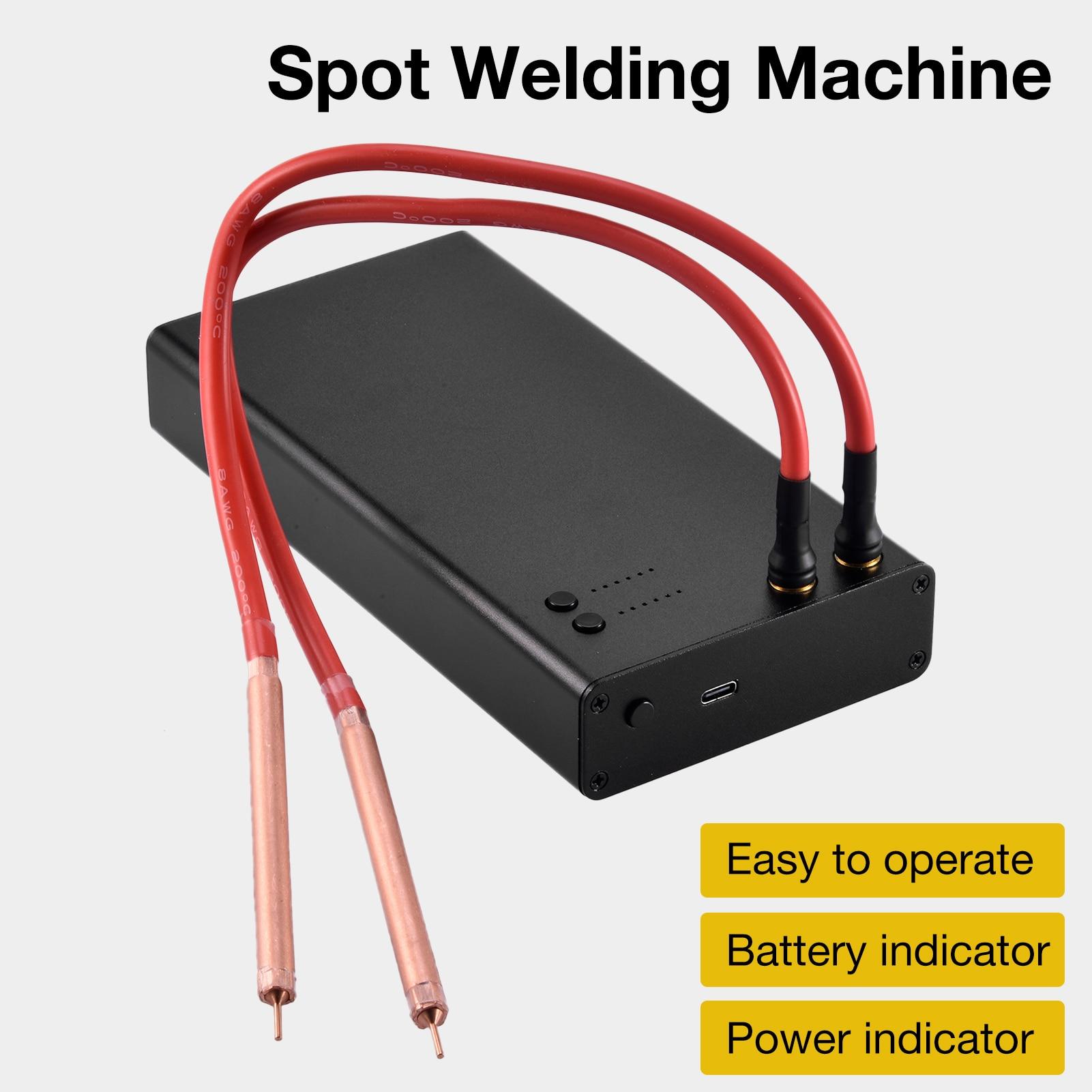 6 Gears Adjustable Mini Spot Welding Machine With Type-C Interface Quick-Release Pens Portable Spot Welder Machine Tool Kit