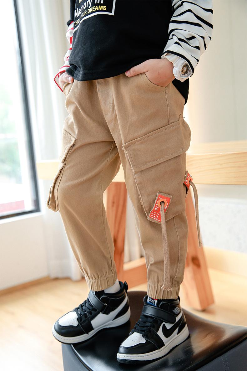 Kids Heavy Duty Cotton Cargo Army BLACK Pants Child Sizes 6,8,10,12,14 Boys Unis