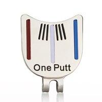 Golfbal Mark Met Magnetische Hoed Clip Een Putt Golf Putting Alignment Gericht Bal Marker Drop Schip
