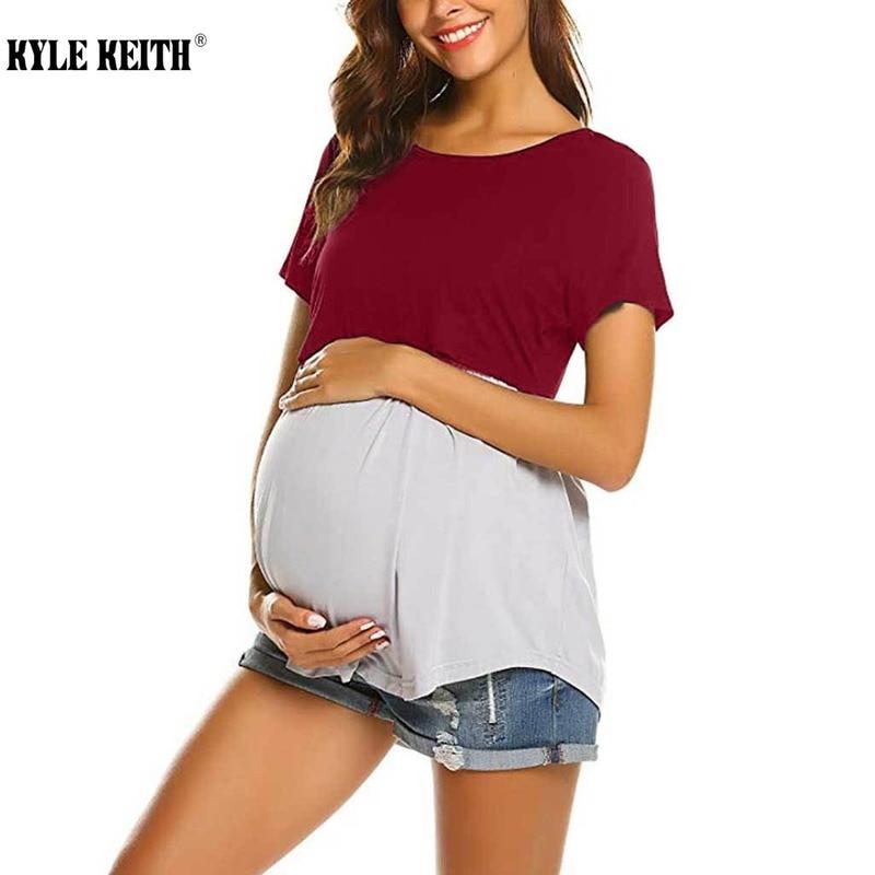 Women's Nursing Tops Short Sleeve Breastfeeding Clothes Camiseta Premama Pregnancy Tshirts
