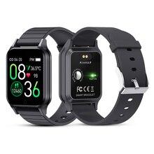 T96 גוף טמפרטורת חכם שעון גברים נשים קצב לב צג לחץ דם כושר Tracker Bluetooth חכם עבור אנדרואיד IOS