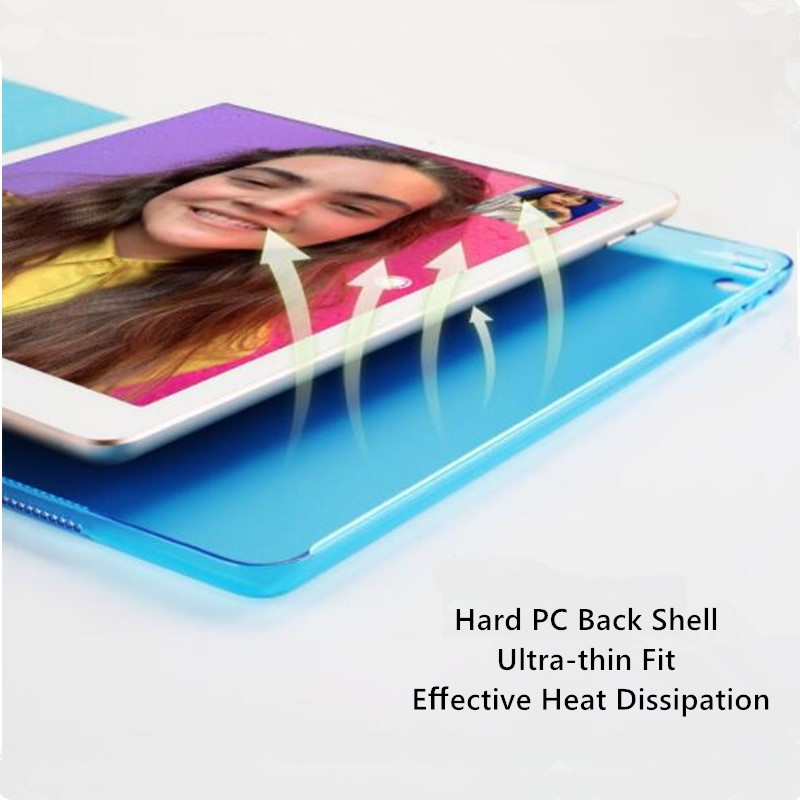 Trifold Leather Smart Case for iPad 10 2 7th generation 2019 Slim Translucent PC Back Cover
